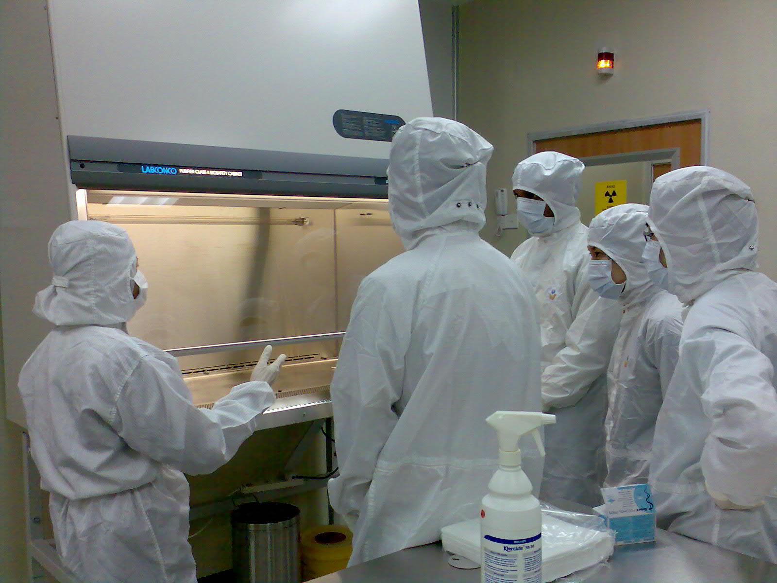 Conduct Aseptic technique training in Clean-room